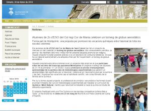 L'escola a les xarxes: 2n ESO – globus aerostàtics