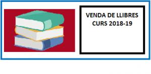 VENDA DE LLIBRES I LLISTAT CURS 2018-19