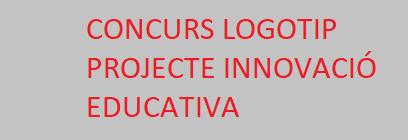 Concurs logotip Projecte Innovació Educativa